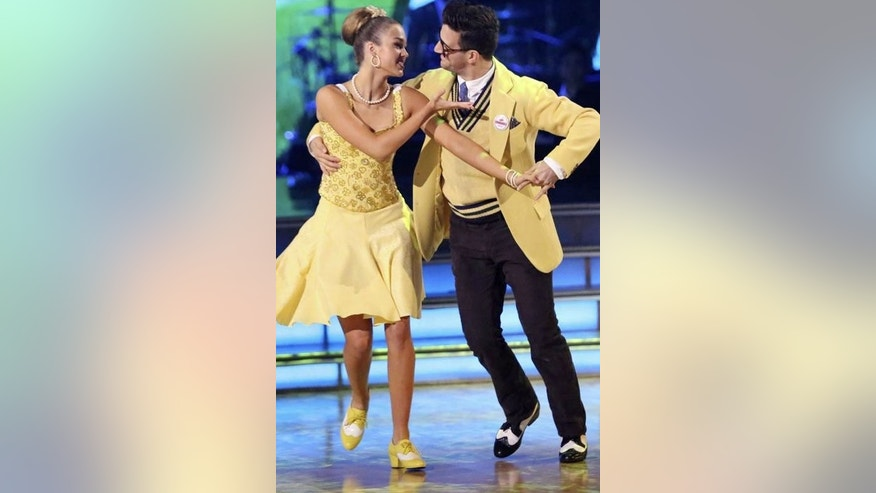 "Sadie Robertson and her partner Mark Ballas perform on ""Dancing With the Stars,"" Sept. 29."