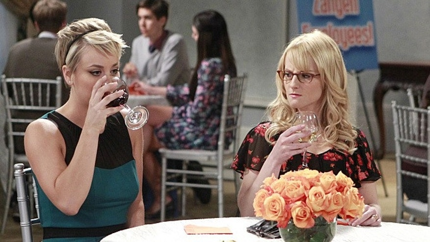 Image features Kaley Cuoco-Sweeting and Melissa Rauch  (Sonja Flemming/CBS)