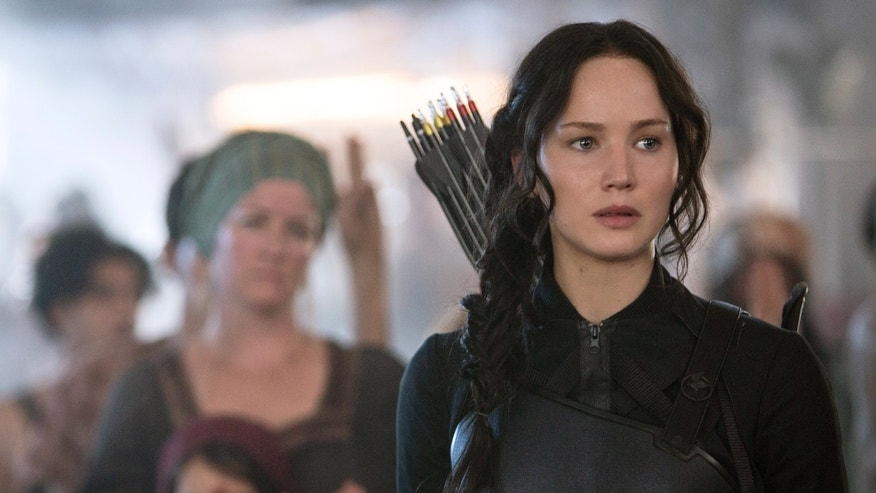 "Jennifer Lawrence portrays Katniss Everdeen in a scene from ""The Hunger Games: Mockingjay Part 1."""