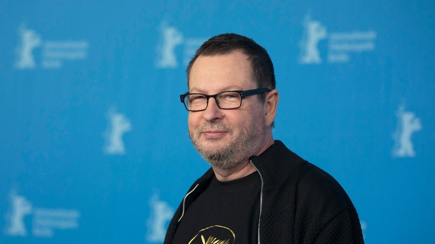 "Feb. 9, 2014. Director Lars von Trier poses for photographers at a photo call for the film ""Nymphomaniac"" at the International Film Festival Berlinale in Berlin."