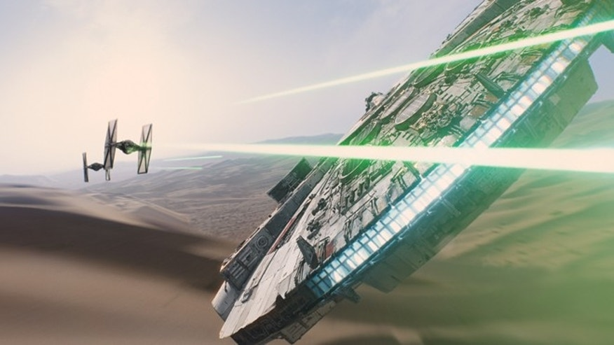 "In this image released by Disney, a scene is shown from the upcoming film, ""Star Wars: The Force Awakens,"" expected in theaters on Dec. 18, 2015. (AP Photo/LucasFilm, Disney)"