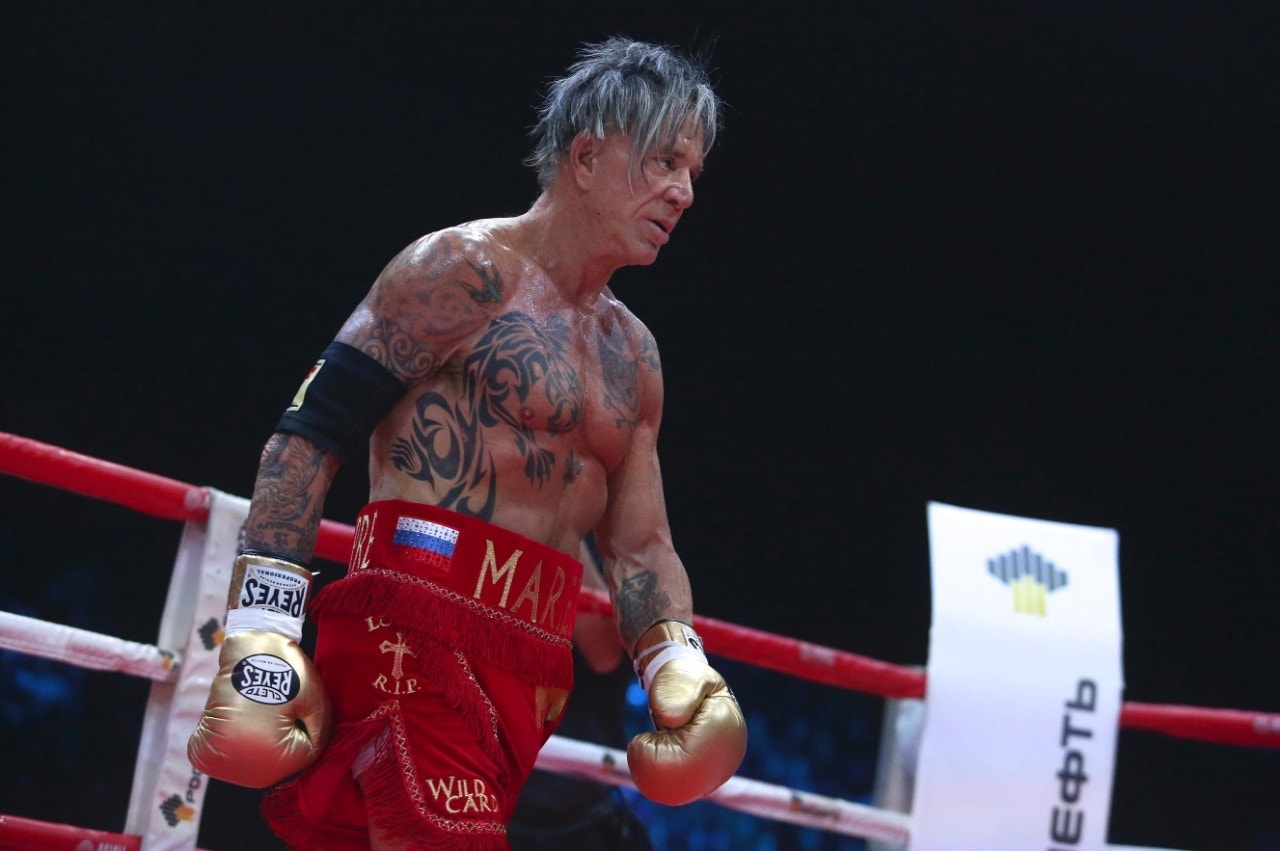 Mickey Rourke's boxing...