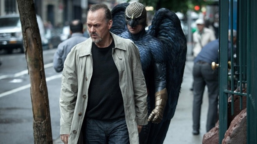 """In this image released by Fox Searchlight Pictures, Michael Keaton portrays Riggan in a scene from """"Birdman."""" The film was nominated for six Spirit Awards on Tuesday, Nov. 25, 2014. Winners will be revealed at the annual awards ceremony on Feb. 21. 2015. The ceremony will air live from Santa Monica, Calif. on IFC.  (AP Photo/Fox Searchlight, Atsushi Nishijima)"""