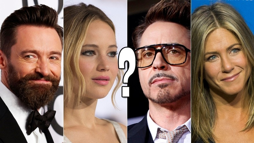 "(L-R) Hugh Jackman, Jennifer Lawrence, Robert Downey Jr., and Jennifer Aniston all fit at least parts of the vague descriptions in the Mashable article -- could they have had ""beauty work"" done?"