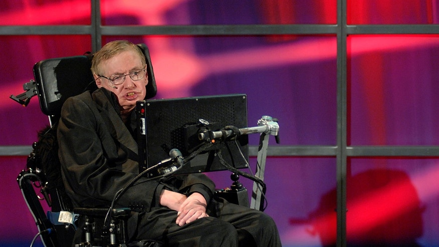 Theoretical physicist Stephen Hawking speaks at his official welcoming ceremony at Perimeter Institute For Theoretical Physics in Kitchener in June.