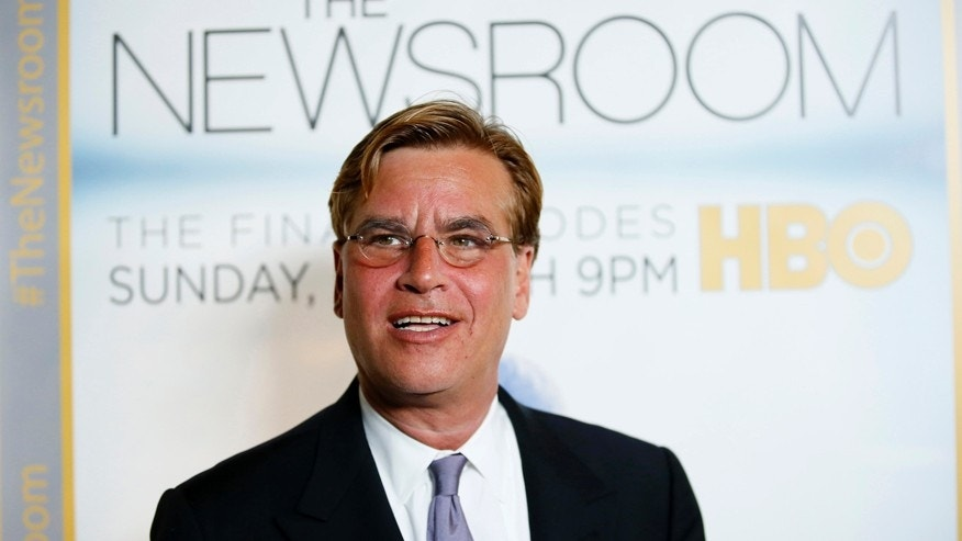 "Creator and executive producer Aaron Sorkin poses at the Los Angeles Season 3 Premiere of HBO's ""The Newsroom"" at the Directors Guild of America in Los Angeles November 4, 2014."