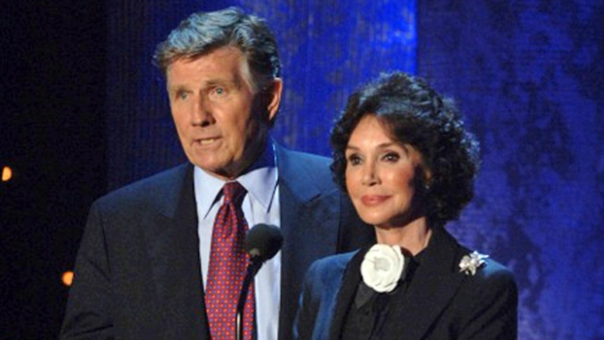 Oct. 1, 2005: Mary Ann Mobley, right, and husband Gary Collins, at the charity event Mississippi Rising, a fundraiser for Hurricane Katrina relief