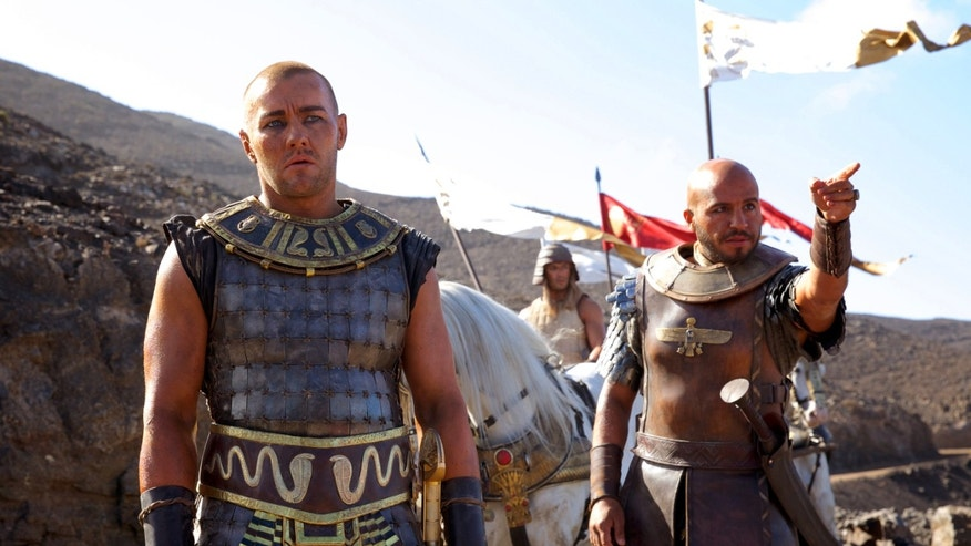 "Joel Edgerton, left, and Dar Salim in a scene from ""Exodus: Gods and Kings."""