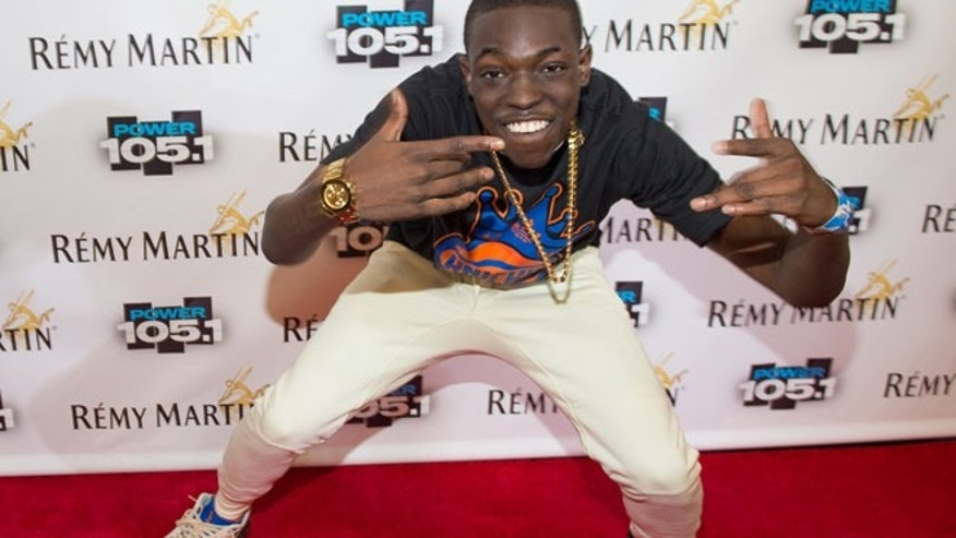 Oct. 30, 2014: Bobby Shmurda arrives at Power 105.1's Powerhouse 2014 at Barclays Center in Brooklyn, New York.