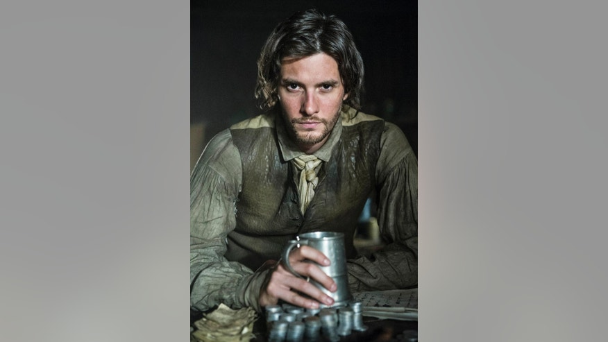 "In this 2014 photo released by the History Channel, Ben Barnes plays the role of Sam Adams in ""Sons of Liberty,"" a new miniseries premiering in January 2015 on the History Channel. (AP Photo/History Channel, Ollie Upton)"