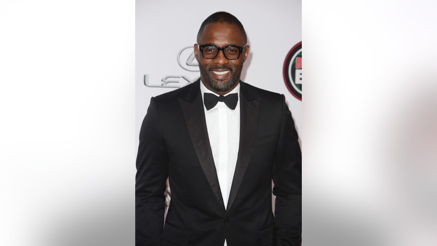 February 22, 2014. Idris Elba attends the 45th NAACP Image Awards in Pasadena, California.