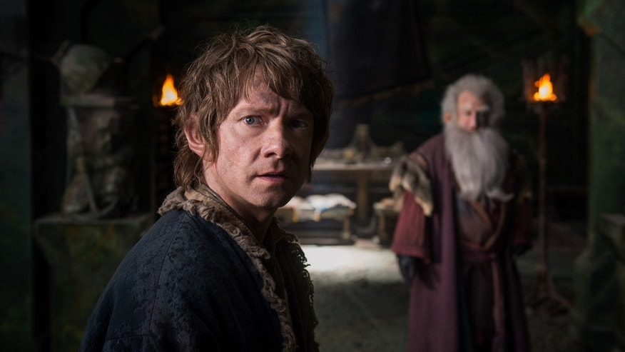 "Martin Freeman appears in a scene from the film, ""The Hobbit: The Battle of the Five Armies."""