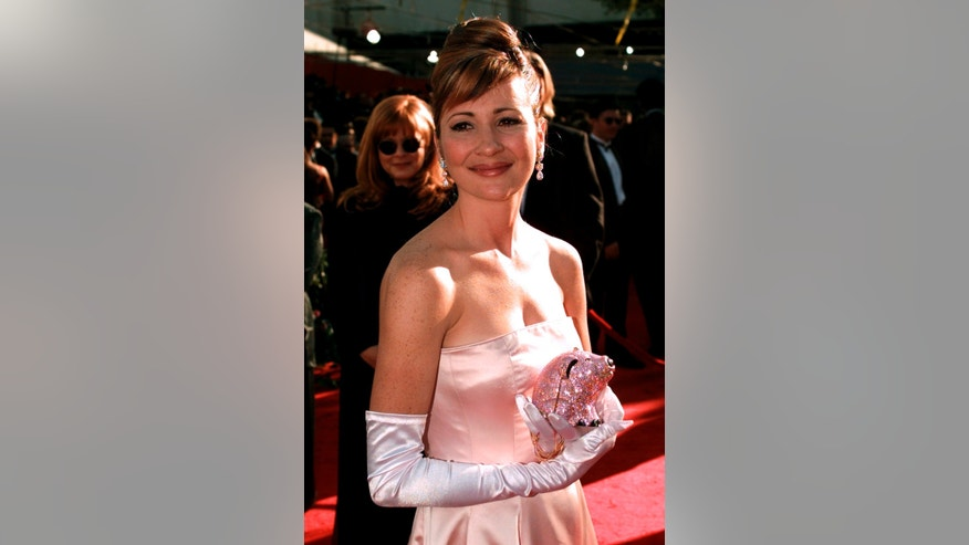 In this March 25, 1996 file photo, Christine Cavanaugh arrives for the 68th Academy Awards at the Music Center in Los Angeles. Cavanaugh, 51, a prolific voice actress whose characters included the titular character of Babe, has died.