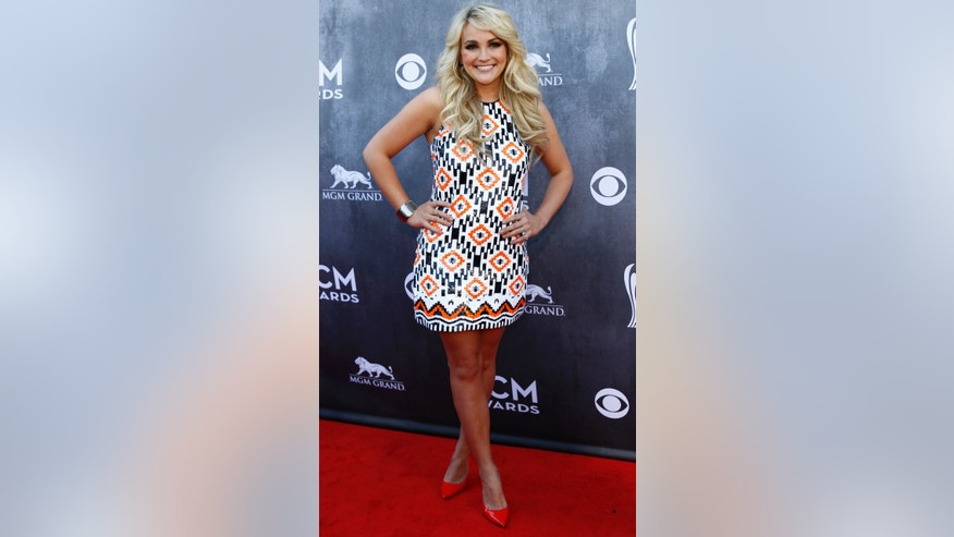 Singer Jamie Lynn Spears arrives at the 49th Annual Academy of Country Music Awards in Las Vegas, Nevada April 6, 2014.