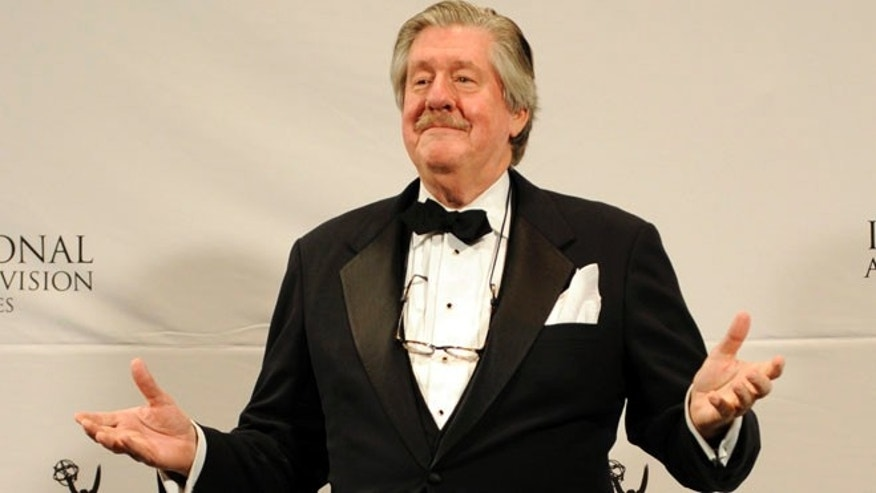 FILE 2011: Edward Herrmann seen after presenting an award at the 39th International Emmy Awards, in New York.