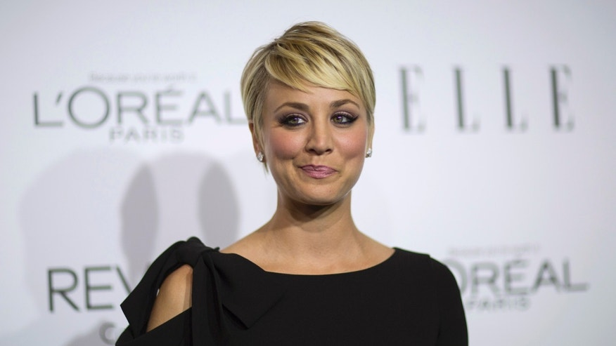 October 20, 2014. Actress Kaley Cuoco poses at the 21st annual ELLE Women in Hollywood Awards in Los Angeles, California.