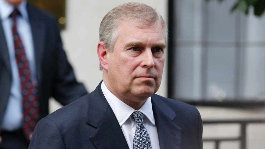 June 6, 2012. Prince Andrew leaves King Edward VII hospital in London after visiting his father Prince Philip.