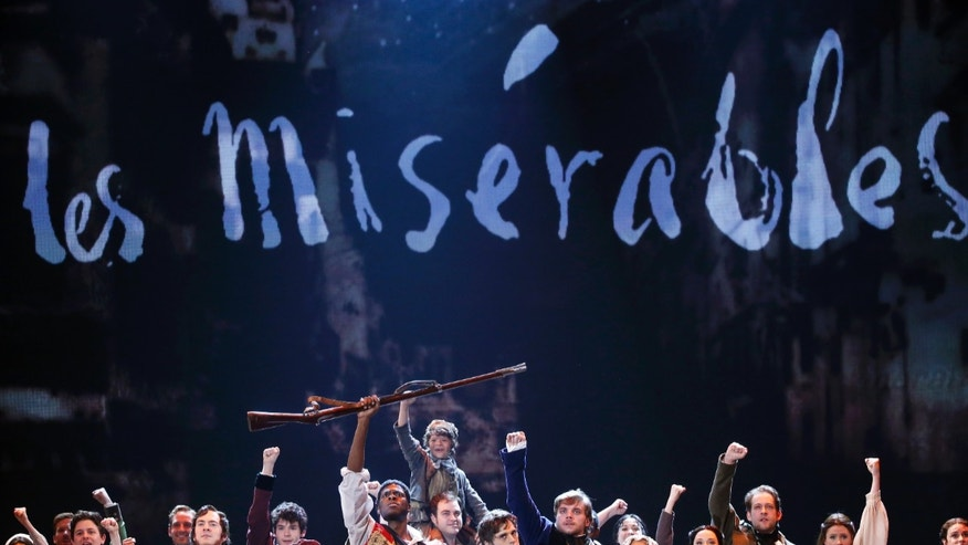 "June 8, 2014. The cast of Les Miserables performs ""Do You Hear the People Sing"" during the 68th annual Tony Awards at Radio City Music Hall in New York."