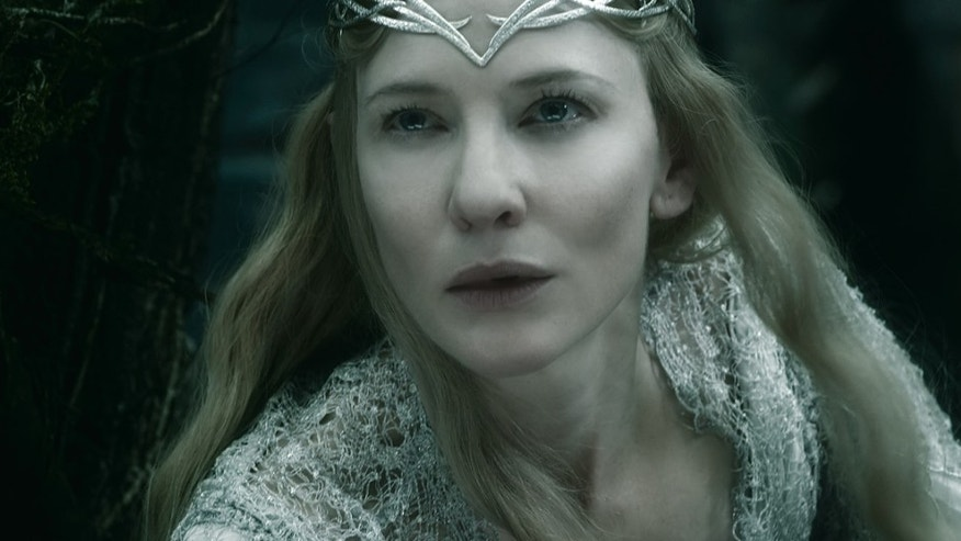"Cate Blanchett as the Elf Queen Galadriel in the fantasy adventure ""The Hobbit: The Battle of the Five Armies."""