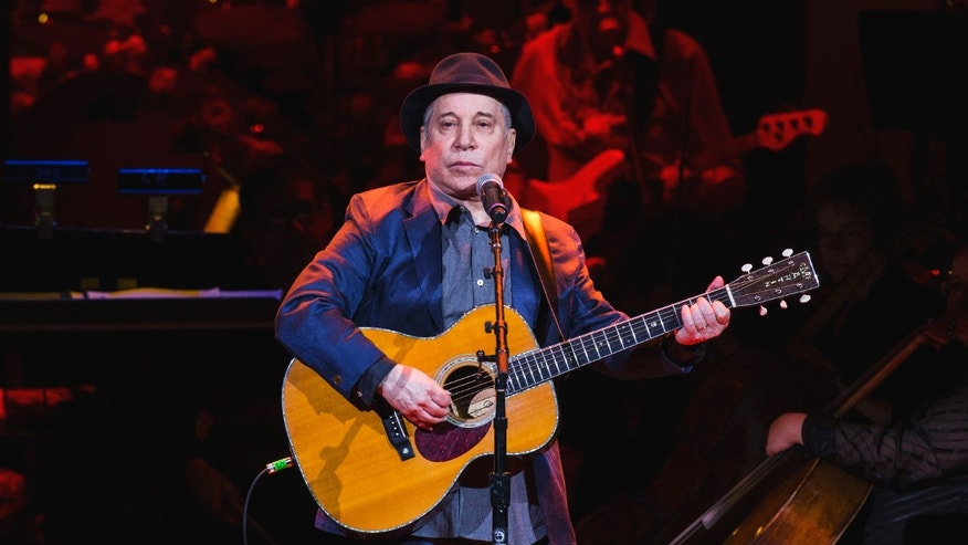April 17, 2014. Singer Paul Simon performs during the Rainforest Fund's 25th anniversary benefit concert in New York.