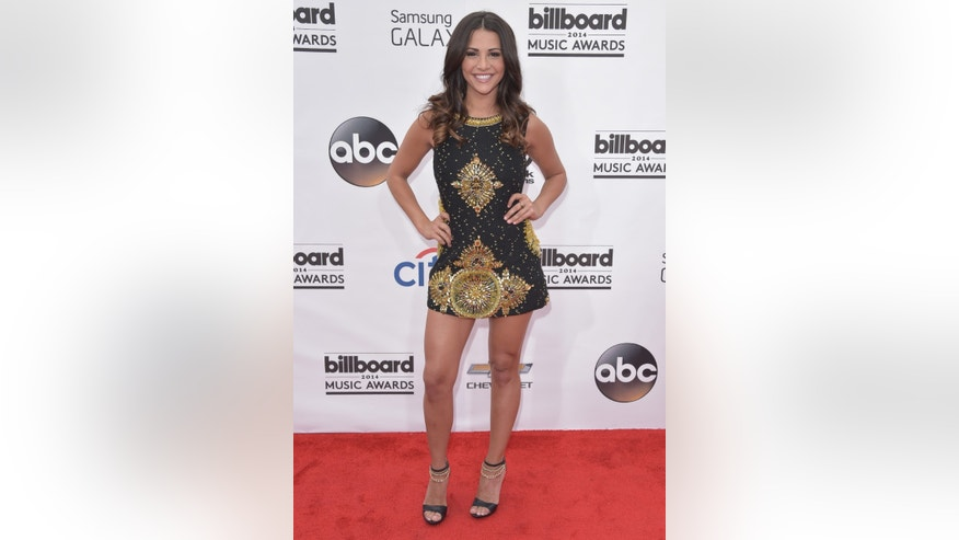 May 18, 2014. Andi Dorfman arrives at the Billboard Music Awards at the MGM Grand Garden Arena in Las Vegas.