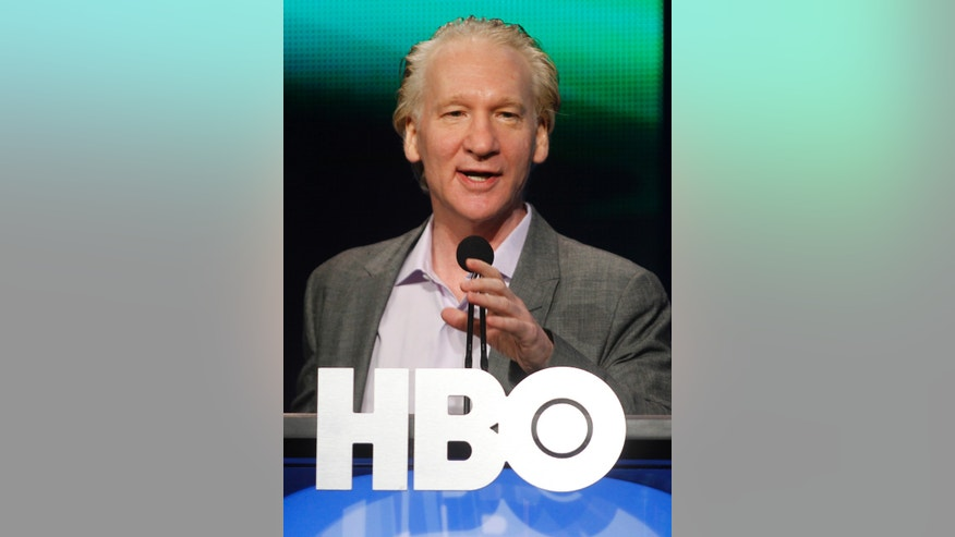 "July 28, 2011. Comedian Bill Maher, host of ""Real Time with Bill Maher,"" speaks during the HBO session at the 2011 Summer Television Critics Association Cable Press Tour in Beverly Hills, California."