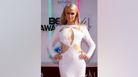 June 29, 2014. Paris Hilton arrives at the 2014 BET Awards in Los Angeles, California.