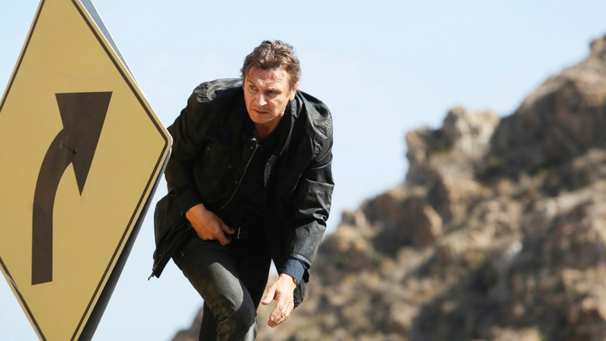 "Liam Neeson as Bryan Mills in a scene from the film, ""Taken 3."""