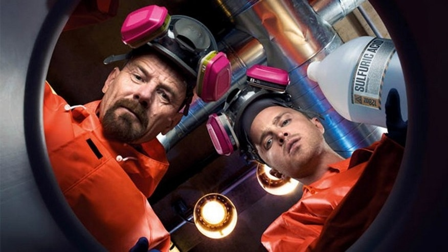 "Bryan Cranston and Aaron Paul star in AMC's ""Breaking Bad."""