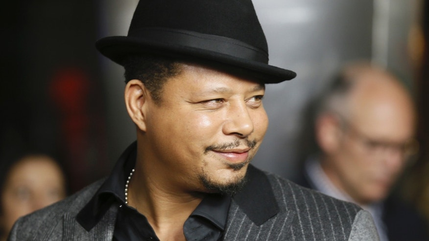 """January 6, 2015. Terrence Howard poses at the """"Empire"""" premiere party in Hollywood, California."""