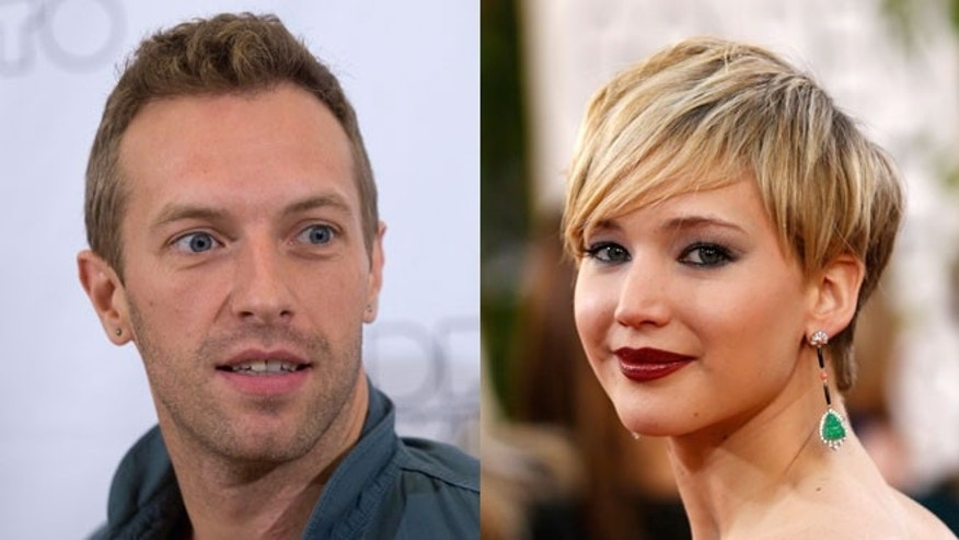 Chris Martin and Jennifer Lawrence.