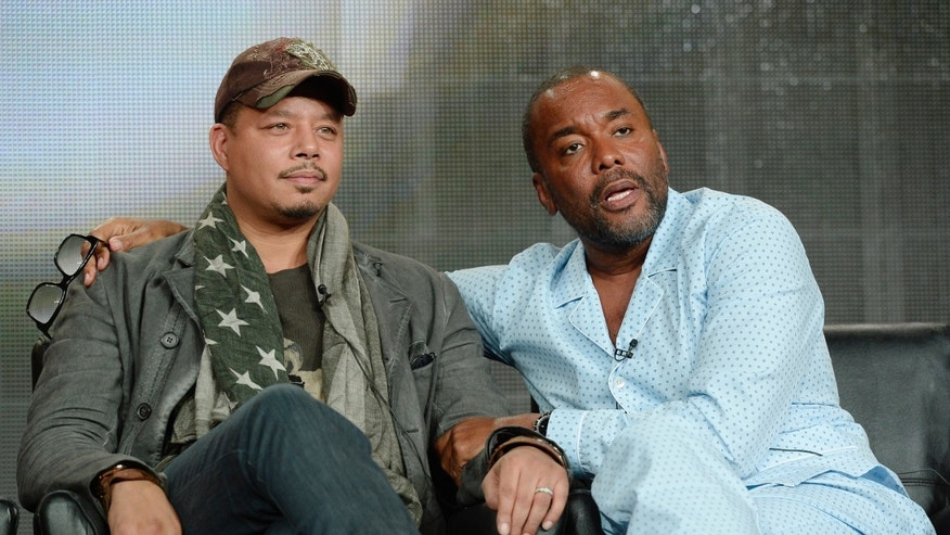 "January 17, 2015. Producer Lee Daniels (R) and cast member Terrence Howard from the television series ""Empire"" at the Television Critics Association (TCA) Winter 2015 presentations in Pasadena, California."
