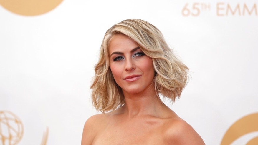 September 22, 2013. Television Personality Julianne Hough arrives at the 65th Primetime Emmy Awards in Los Angeles.