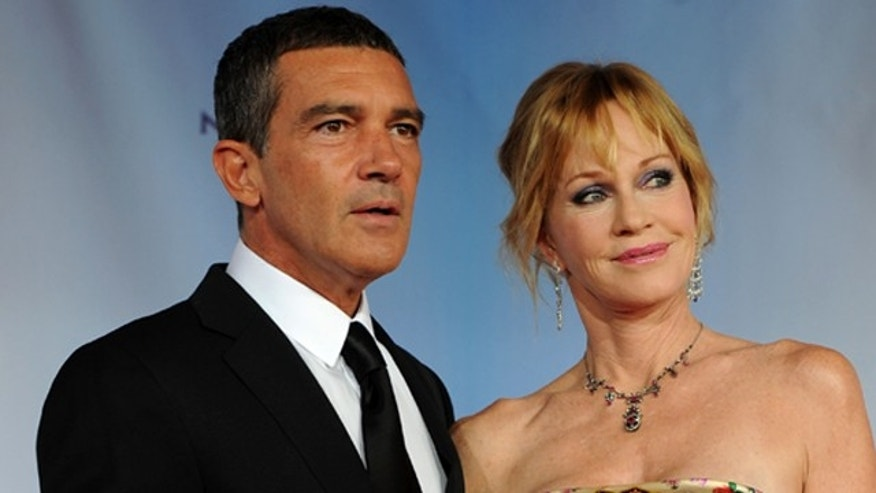 SANTA MONICA, CA - SEPTEMBER 10:  Actor Antonio Banderas and actress Melanie Griffith arrive at the 2011 NCLR ALMA Awards held at Santa Monica Civic Auditorium on September 10, 2011 in Santa Monica, California.  (Photo by Kevin Winter/Getty Images for NCLR)