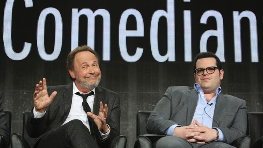 "Comedians Billy Crystal (L) and Josh Gad participate in ""The Comedians"" panel at the Television Critics Association (TCA) Winter Press Tour in Pasadena, California January 18, 2015.   REUTERS/David McNew  (UNITED STATES - Tags: ENTERTAINMENT) - RTR4LX4X"