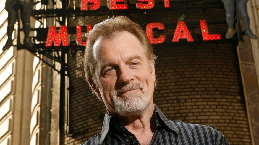 July 1, 2008 file photo shows actor Stephen Collins posing for a picture outside of the Shubert Theatre in New York.