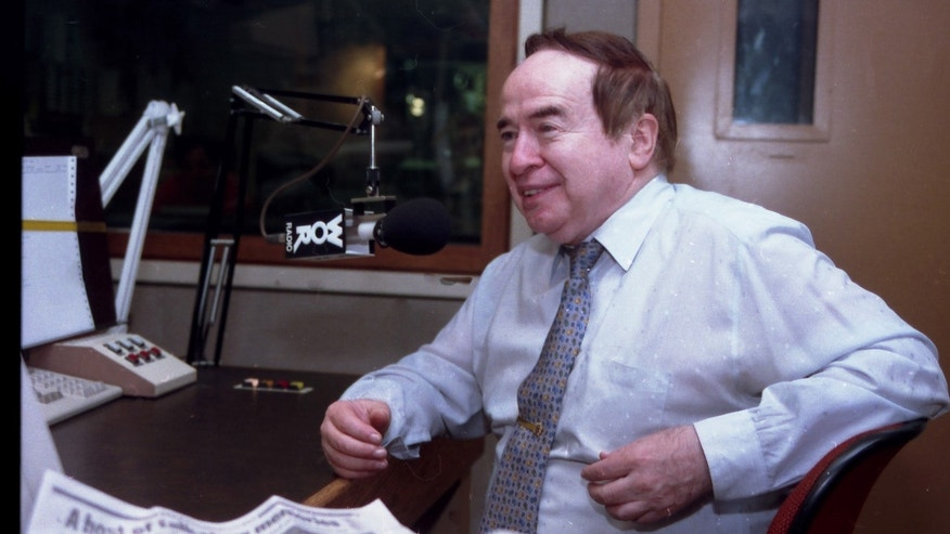 "Aug. 6, 1993: Joe Franklin speaking as a guest on the ""John Gambling Radio Show""."