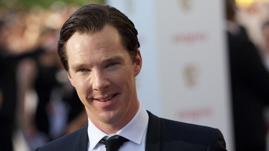 British actor Benedict Cumberbatch arrives for at the Royal Festival Hall in London, on May 27, 2012. The Toronto International Film Festival opens in September and Bill Condon's 'The Fifth Estate,' starring Benedict Cumberbatch as WikiLeaks founder Julian Assange will kick off the 38th edition of the festival.