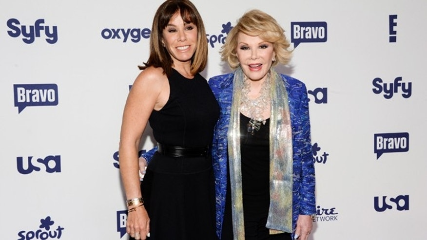 May 15, 2014: file photo, Melissa Rivers, left, and Joan Rivers attend the NBCUniversal Cable Entertainment 2014 Upfront at the Javits Center in New York.