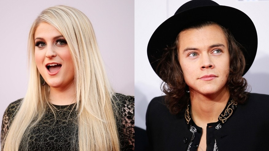 Meghan Trainor, left, and Harry Styles have teamed up for a duet.