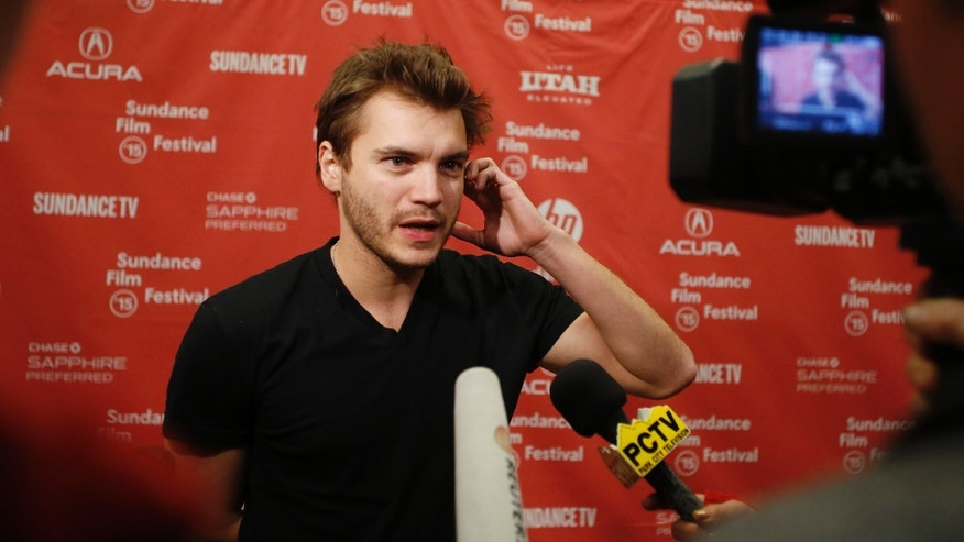 "Actor Emile Hirsch attends the premiere of the film ""Ten Thousand Saints"" at the Sundance Film Festival in Park City, Utah, January 23, 2015.  REUTERS/Jim Urquhart (UNITED STATES - Tags: ENTERTAINMENT) - RTR4MPHF"