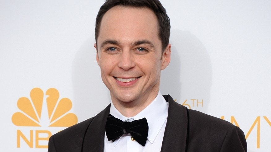 FILE - In this Aug. 25, 2014 file photo, Jim Parsons poses in the press room after winning the award for outstanding lead actor in a comedy series for his work on The Big Bang Theory at the 66th Annual Primetime Emmy Awards in Los Angeles.