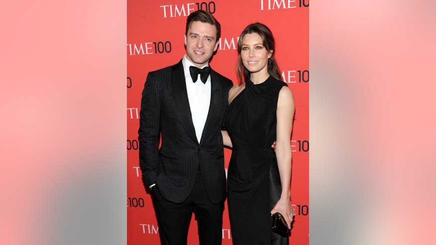 April 23, 2013. Justin Timberlake and wife, actress Jessica Biel, attend the TIME 100 Gala in New York.
