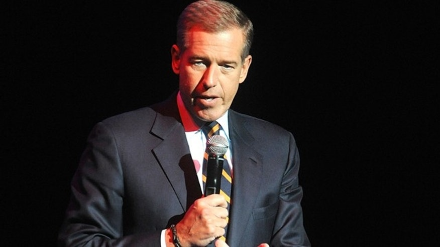 FILE - In this Nov. 5, 2014 file photo, Brian Williams speaks at the 8th Annual Stand Up For Heroes, presented by New York Comedy Festival and The Bob Woodruff Foundation in New York. (Photo by Brad Barket/Invision/AP, File)