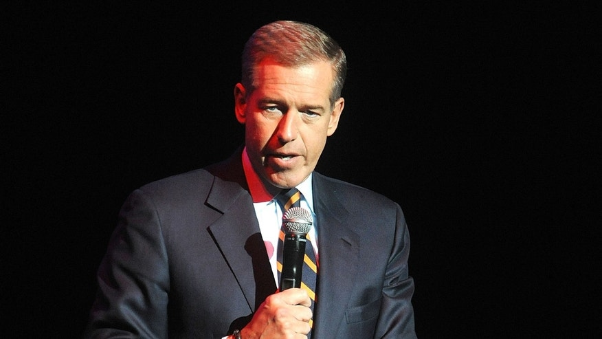 Nov. 5, 2014. Brian Williams speaks at the 8th Annual Stand Up For Heroes, presented by New York Comedy Festival and The Bob Woodruff Foundation in New York.
