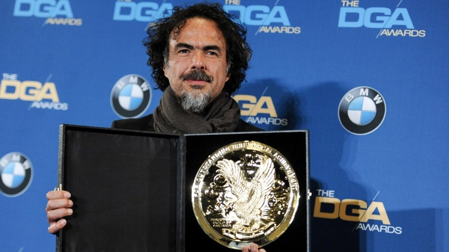 Director Alejandro G. Inarritu attends the Press Room at the 67th Annual DGA Awards on Saturday, Feb. 7, 2015, in Los Angeles. (Photo by Richard Shotwell/Invision/AP)