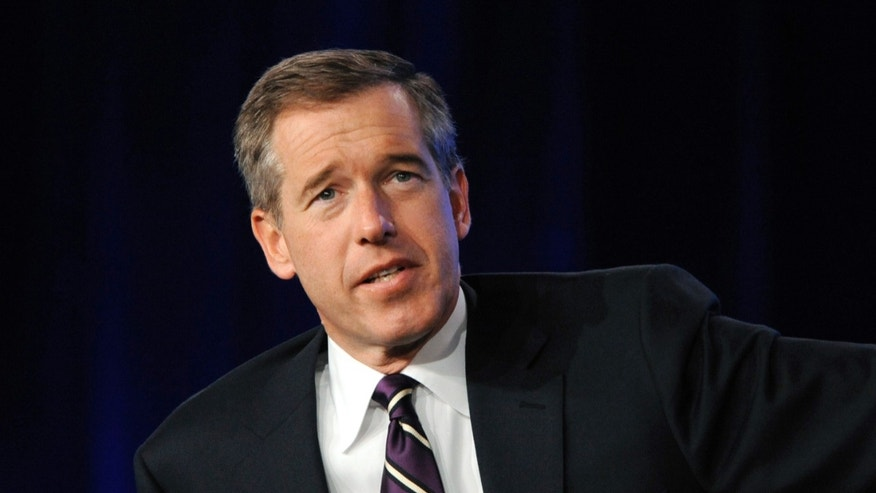 "January 10, 2010. Brian Williams from ""NBC Nightly News"" answers a question during the panel for NBC News at the NBC Universal sessions of the Television Critics Association winter press tour in Pasadena, California."