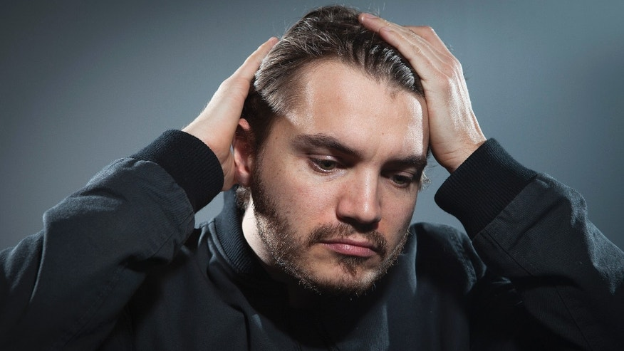 """November 5, 2013. Emile Hirsch poses for a portrait ahead of the release of his film """"The Motel Life"""" in New York."""
