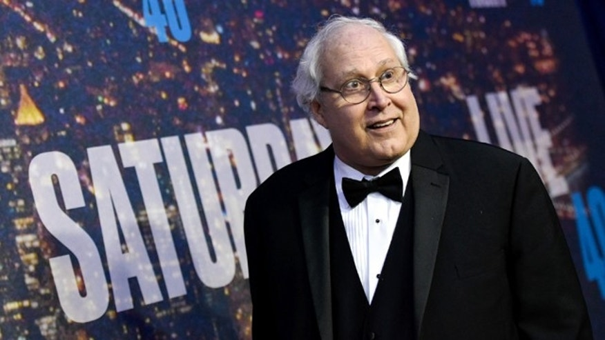 Feb. 15, 2015: Chevy Chase attends the SNL 40th Anniversary Special at Rockefeller Plaza in New York. (Photo by Evan Agostini/Invision/AP)