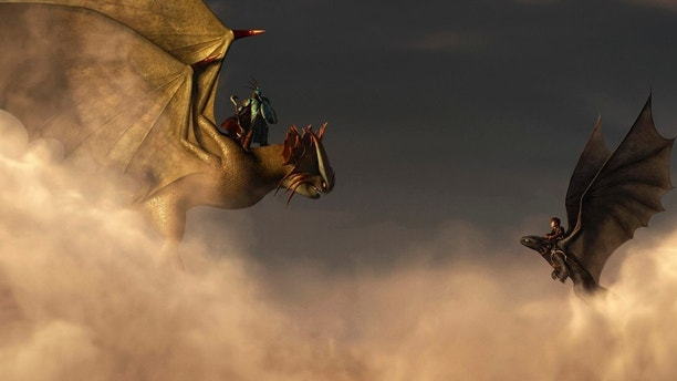 """FILE - This file image released by DreamWorks Animation shows a scene from """"How To Train Your Dragon 2."""" The DreamWorks sequel """"How to Train Your Dragon 2"""" topped the 42nd Annie Awards, taking best feature at the annual honors for animation, Saturday, Jan. 31, 2015, on the UCLA campus in Los Angeles. """"How to Train Your Dragon"""" won five awards in all. It also took best director for Dean DeBlois, as well as prizes for feature character design, storyboarding and music. (AP Photo/DreamWorks Animation, File)"""